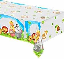 Dschungel Tischdecke aus Kunststoff 120x 180cm Kindergeburtstag Party A
