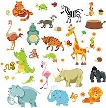 Dschungeltiere Wandaufkleber für Kinderzimmer