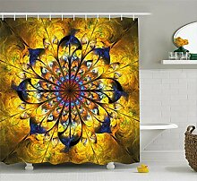 dsgrdhrty Gelbes und blaues Mandala Boho