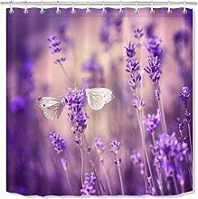 dsgrdhrty Lila Lavendel Schmetterling Duschvorhang
