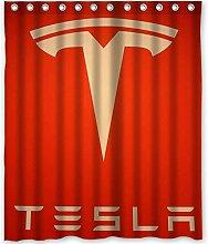 dsgrdhrty Tesla Auto rotes Schild Badezimmer