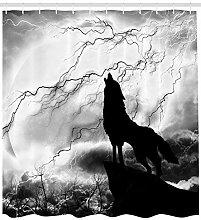 dsgrdhrty Wolf heult den Vollmond an Badezimmer