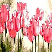 DSHF DIY Digitale Malerei Blumenbild nach Anzahl