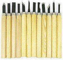 DSHHF 12 Stück Holzschnitzerei Meißel Werkzeuge