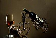 DSHRTY Weinregal Retro Dreirad Form Rotweinregal