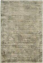 dsnetz Teppich Wohnzimmer Carpet Modern Design BLAD Rug Unifarbe Muster Viskose Smoke Grau 200x290 cm | Teppiche Günstig Online kaufen