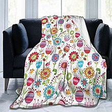 DSSYEAH Erwachsene Decke Blumengesteck mit vielen
