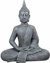dszapaci Buddha Statue Groß 65cm Sitzend Deko