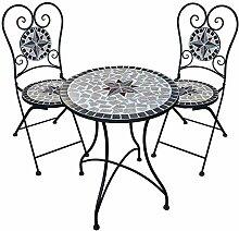 dszapaci Gartengarnitur Mosaiktisch 2 Stühle