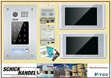 DT596F/ KP+ 2x DT27TD+PS5+DPS Video-Sprechanlage Türsprechanlage -> (Farbe Monitor) schwarz