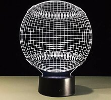 Dtcrzjxh Lampe Des Baseballs 3D Energie-Bank Usb