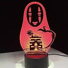 Dtcrzjxh Miyazaki Hayao Anime 3D Led Lampe