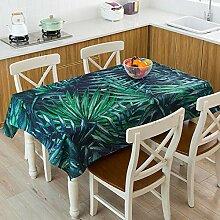 Dthlay Tischdecke Gartentisch Dunkelgrüne Pflanze