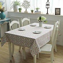 Dthlay Tischdecke Gartentisch Einfache Leinwand