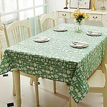 Dthlay Tischdecke Gartentisch Frische Grüne Druck