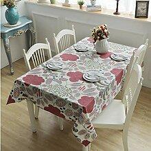 Dthlay Tischdecke Gartentisch Red Leaf Print