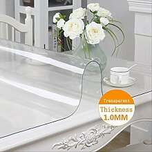 DTRGY Transparent PVC wasserdichte Tischdecke