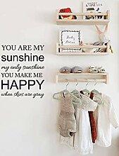 Du bist mein Sonnenschein Monogramm Wandtattoo