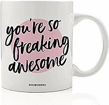 Du bist so verdammt genial Kaffeetasse süß Zitat