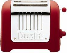 DUALIT Lite 2 Scheiben Toaster Soft Touch rot (red)