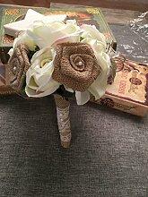Duane Loyd Design Hochzeit Jute Blumenstrauß