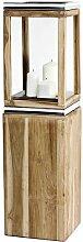 Dubai Holzlaterne Edzard Größe: 105cm H x 26cm B