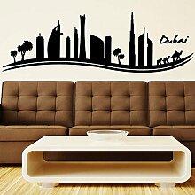Dubai Skyline Wandvinylaufkleber-Kunst-Plakat Easy Peel & Stick Wand - Dekor