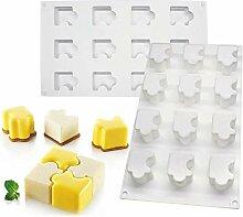 DUBENS 12 Hohlraum Puzzle Kuchen Form Mousse