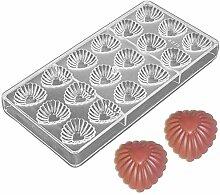 DUBENS 18 Herz Muster Polycarbonat PC Schokolade