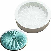 DUBENS Mousse Silikon Kuchen Form 3D Pan Runde