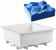 DUBENS Quadratische Form Silikon Kuchen Form Rock