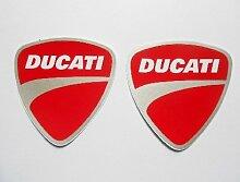 DUCATI stickers decals aufkleber - Rot Weiß Grau - Motorrad - Motorbike - Motorsport - Motorcycles - Racing Team - Biker - set of 2 pieces