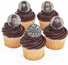 Duck Dynasty 24 Cupcake Topper Rings by Bakery