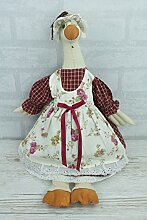 Duck Türstopper Ente Tür Stay rot floral Kleid Pre gefüllt 38cm Novlety fd8410a