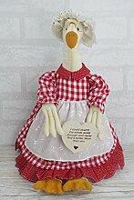 Duck Türstopper Neuheit Herz Schild retro vintage Stil Shabby Chic fd0552C