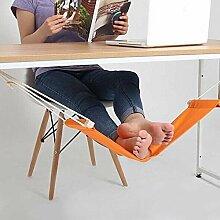 ducomi® Put Your Feet Up–Mini Hängematte Tisch und Schreibtisch für Beruhigen die Beine mit Komfort und Stil–Fußstütze verstellbar ideal für Büro, Haus und Garten (65x 15cm)