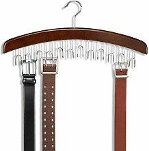 ducomi® Rockbügel Kleiderbügel aus Holz mit 12Haken braun