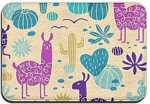 Duda Weichem rutschfestem Lama Kaktus Badteppich