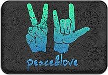 Duda Weichem rutschfestem Vintage Schild Peace