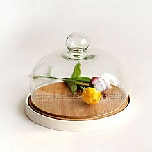 DUDDP Glasglocke Glasserver Glas Sushi-Kuppel,