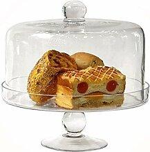DUDDP Glasglocke Glasserver Glasserver Glas Kuchen