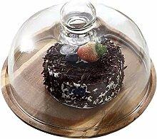 DUDDP Glasglocke Kuchenstände Glasplatte