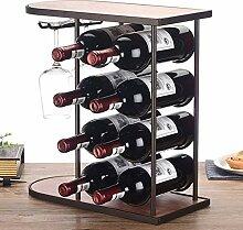 DUDDP Weinflaschenhalter Freistehende Tabelle aus