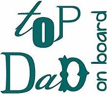 DuDecor Top Dad Englisch Wörter Auto Aufkleber Vinyl türkis