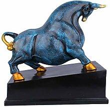Dudu Angry Bull Skulptur Dekorations Harz,