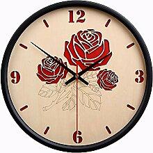 Dudu Fashion Wall Clock, Rose Dekorative Tafeluhr,