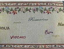 Duffi Home Tischdecke, Bestickt, Rosa, 140 x 180 cm