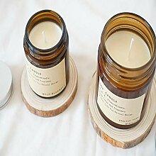 Duft Kerze Wachs Nordic braun Flasche duftende