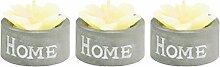 Duftkerze im Zement Topf Home 3er Set Kerze