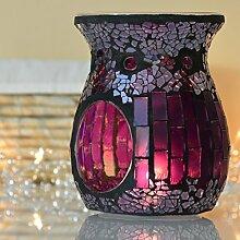 Duftlampe Aromalampe Mosaik Glas lila